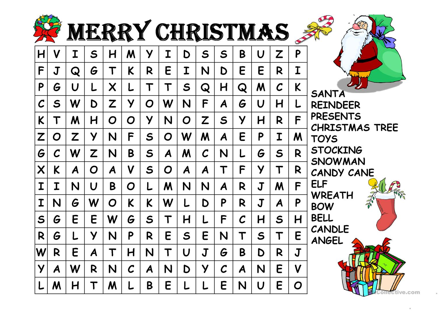 Learning And Growing Together Christmas Word Search