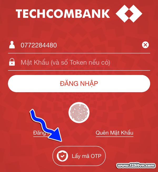 Hướng dẫn sử dụng Smart OTP của Techcombank