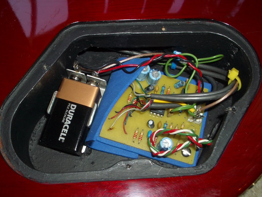 Guitar Snob Chet Atkins Sst Noise Issues Wiring Diagram Now This Is What Ive Done Hard Mounted The Pc Board While Using Neoprene Insulation Solder Connections Fixed Slag Removed Cavity Shielded Properly