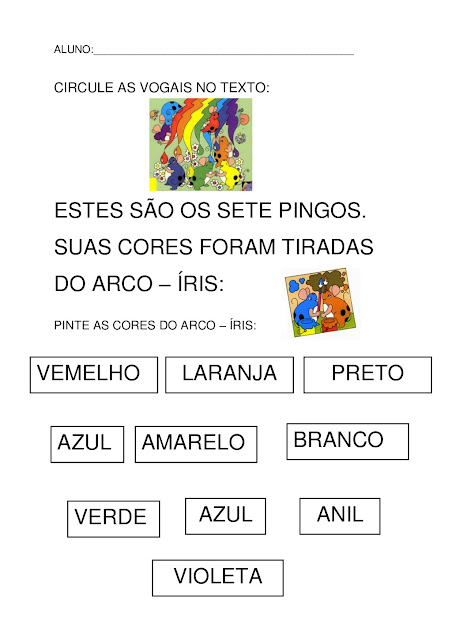 os pingos e as cores pdf