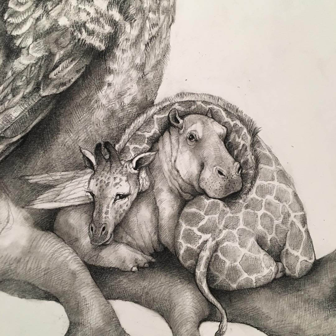 07-Small-and-Very-Large-Surreal-Animal-Drawings-www-designstack-co