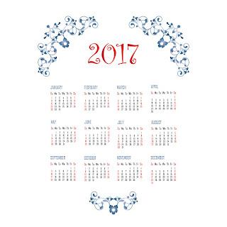 2017カレンダー無料テンプレート95