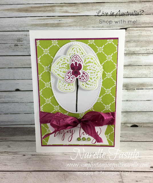 Climbing Orchids - Create stunning projects with this orchid themed set - Simply Stamping with Narelle - Get yours here - http://www3.stampinup.com/ECWeb/ProductDetails.aspx?productID=143723&dbwsdemoid=4008228