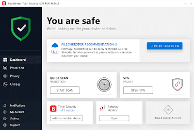Free Trial for 90 Days Bitdefender Total Security 2020