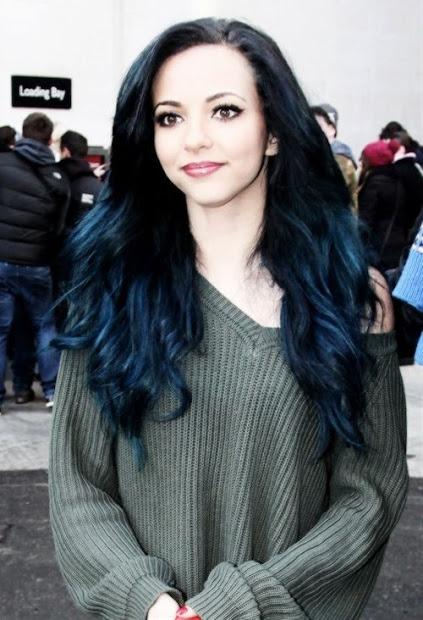 stunning midnight blue hairstyles