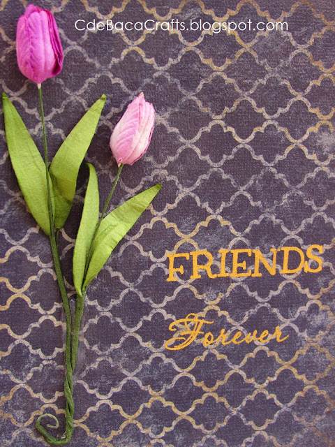Handmade Friends Forever Card by CdeBaca Crafts Blog.