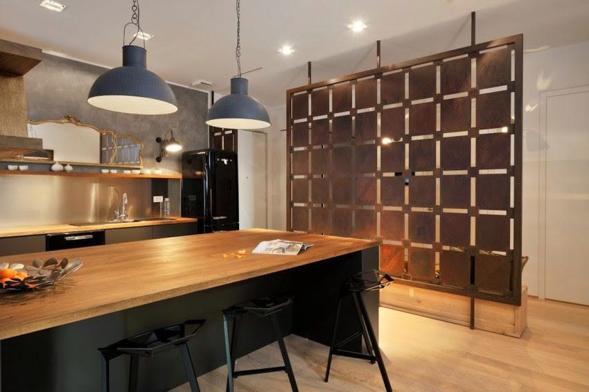 hogares frescos moderno dise o interior de un apartamento con vistas a la hermosa liubliana. Black Bedroom Furniture Sets. Home Design Ideas