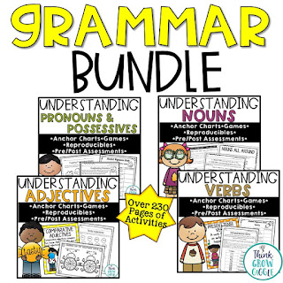 grammar instruction, grammar lessons, editing and revising, grammar picture books