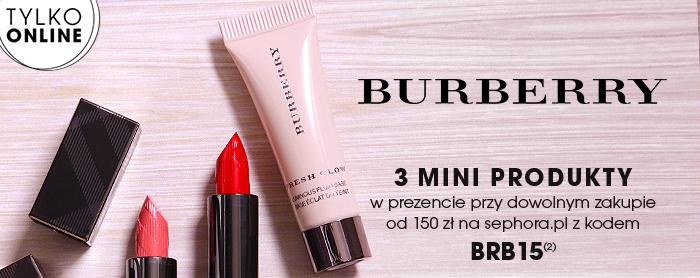 b0bc9400ef Otóż przy zamówieniu produktów powyżej 150 zł i wpisaniu kodu BRB15  otrzymamy dodatkowo 2 mini pomadki Burberry w odcieniach Kisses Nude Pink