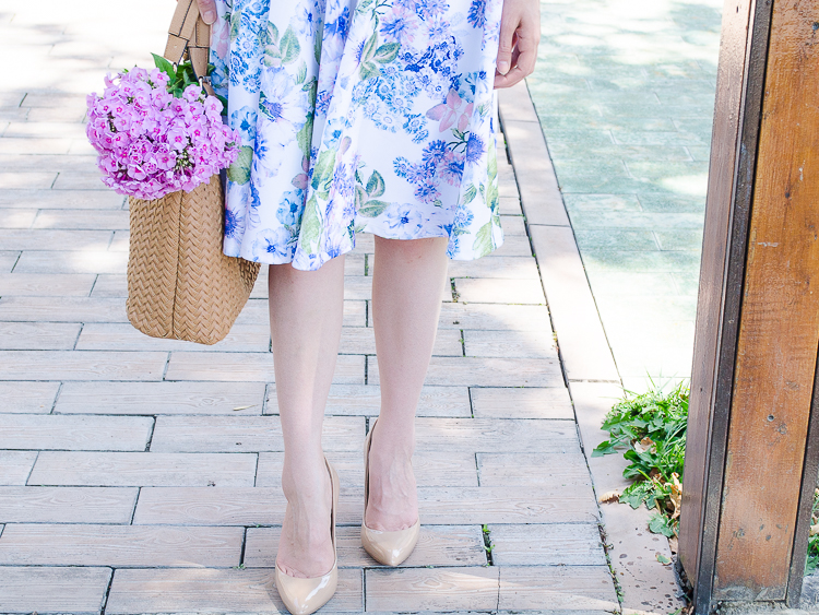 diyorasnotes floral midi skirt asos blue top 8 - LOOK OF THE DAY: FLORAL PRINT MIDI SKIRT