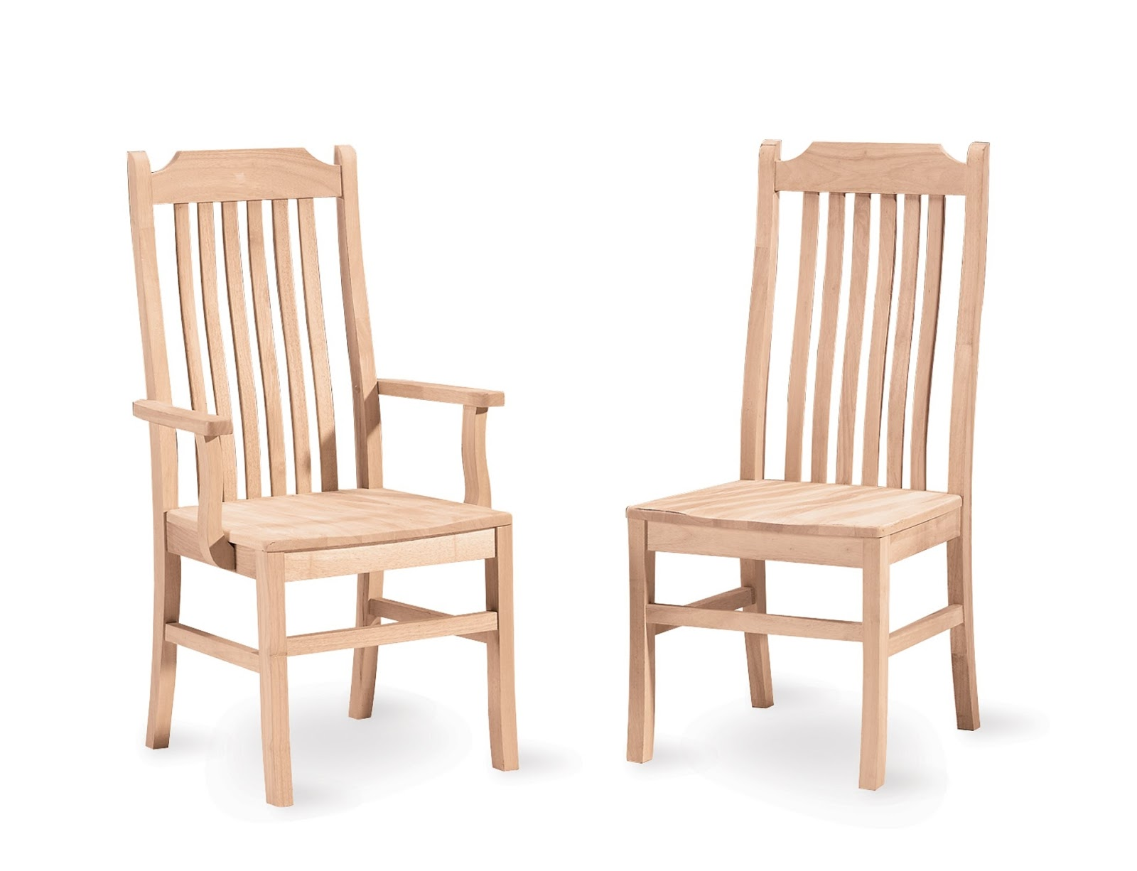 unfinished oak chairs for house
