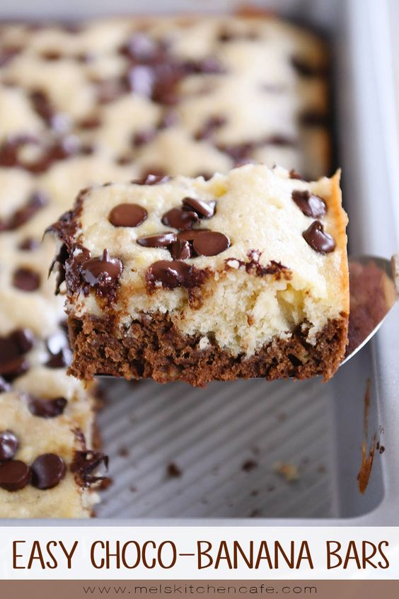 EASY CHOCO-BANANA BARS