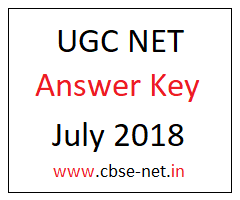 image : UGC NET Answer Key July 2018 @ www.cbse-net.in