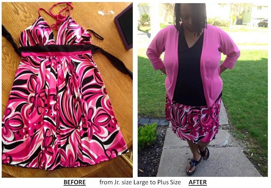 Refashion Upsize A Skirt Plus Size Refashion One Brown Mom