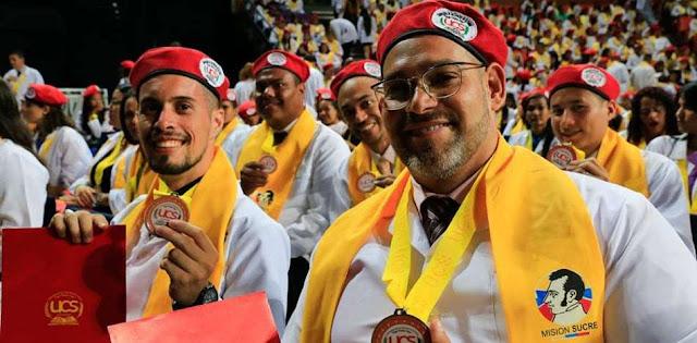 """""""Médicos"""" de universidad chavista protestan porque no pueden ejercer en Perú"""