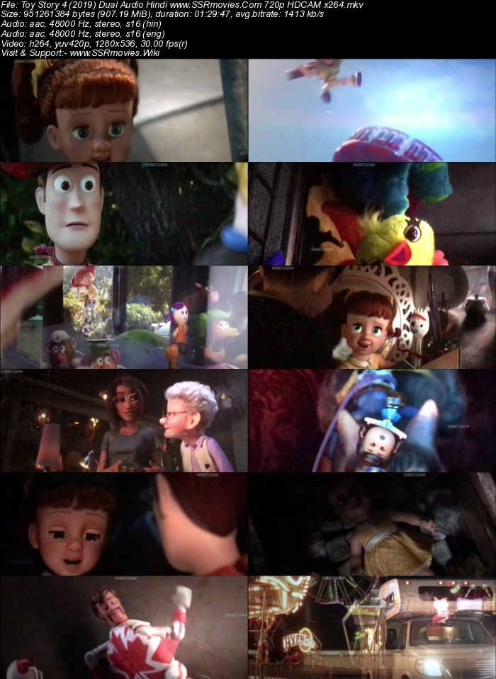 Toy Story 4 2019 Dual Audio Hindi 480P Hdcam X264 300Mb -6115