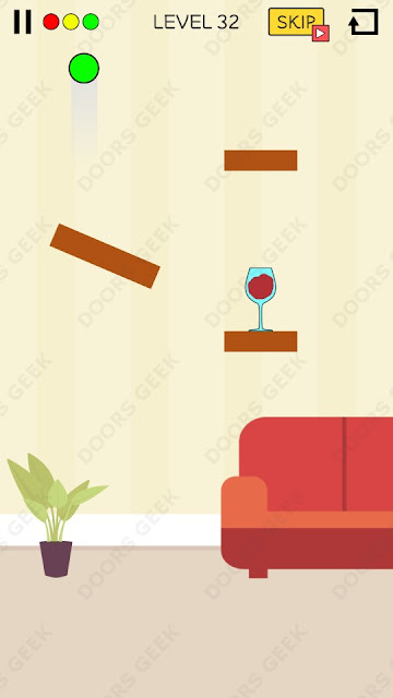 Spill It! Level 32 Walkthrough, Solution, Cheats for Android, iPhone, iPad and iPod
