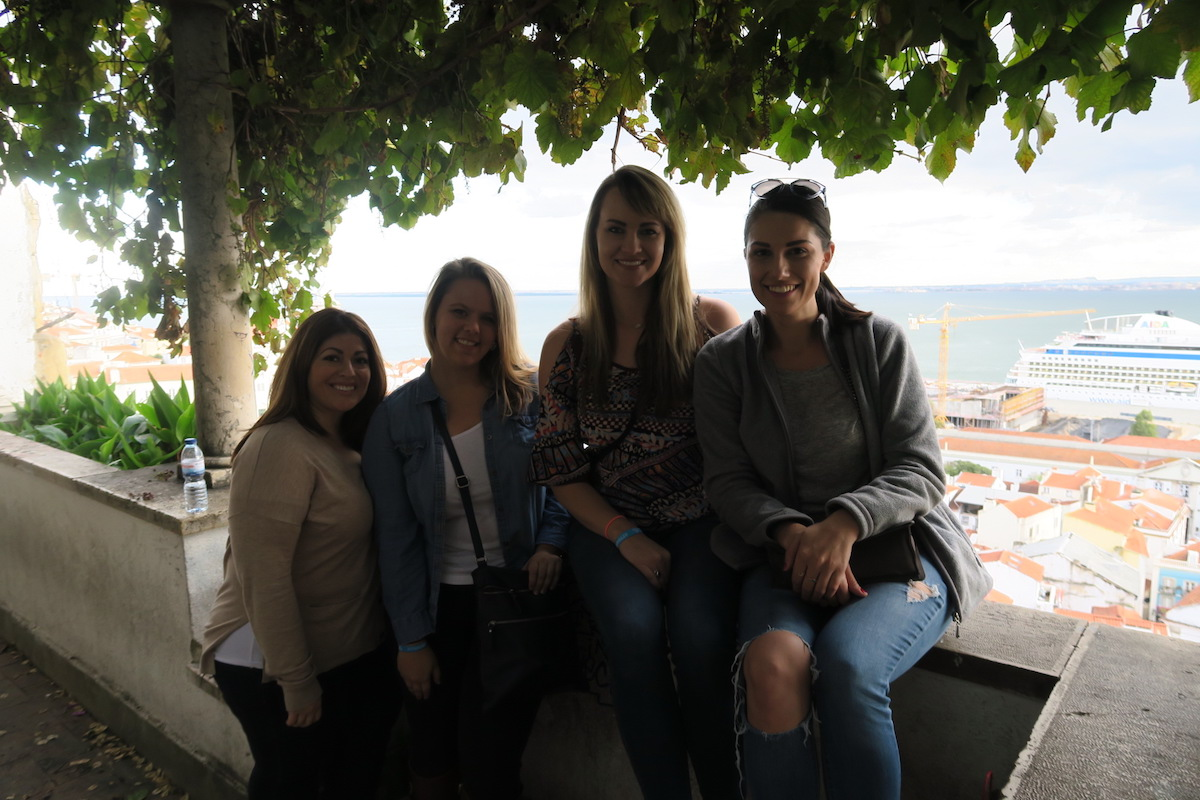 This is a photo of our group of girls in Lisbon, Portugal for Web Summit 2016.