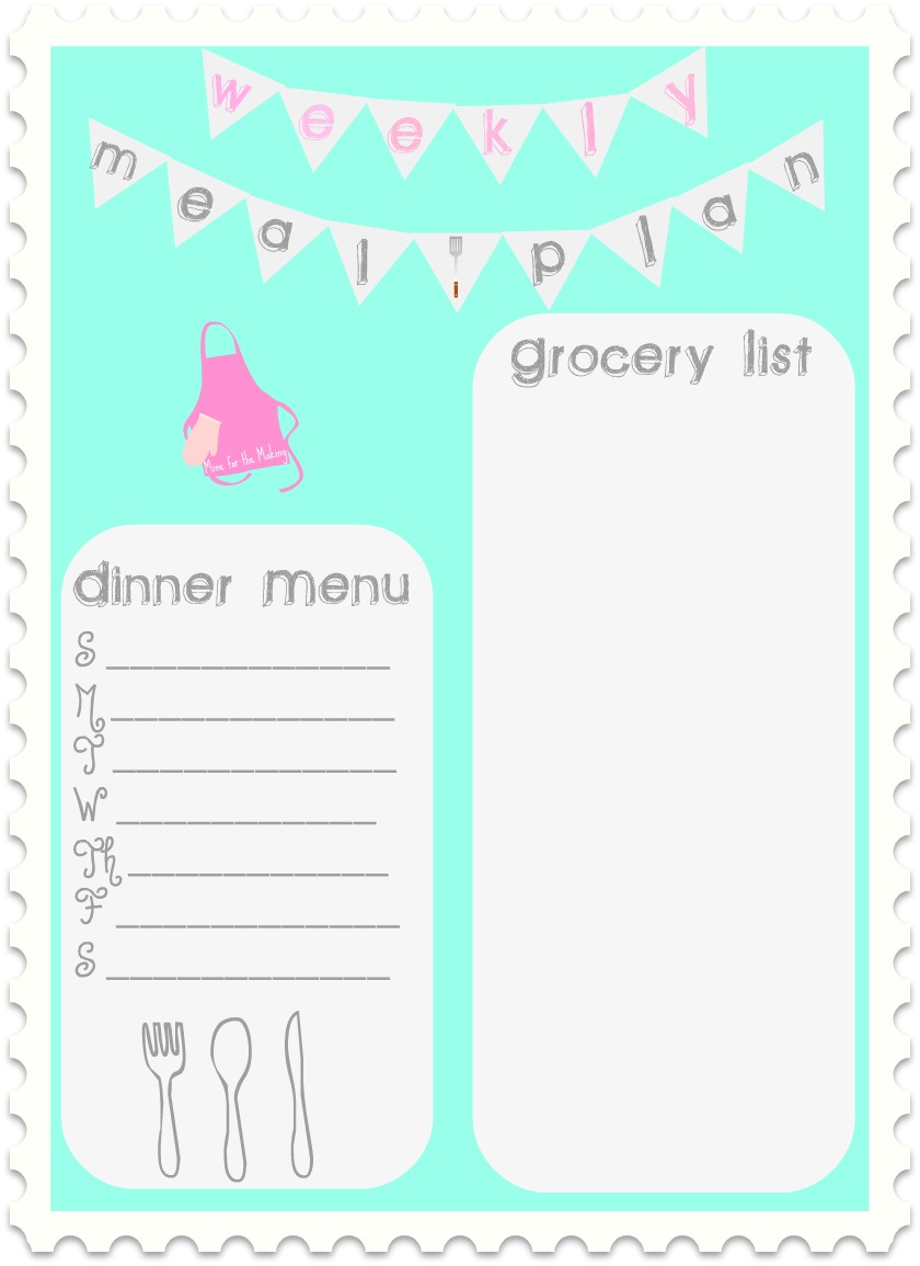 Food-a-licious Friday {44} Weekly Meal Plan {printable ...  Food-a-licious ...