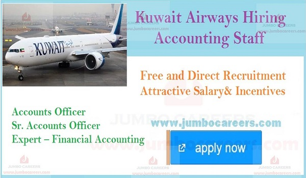 Accounting Jobs in Kuwait Airways, Eligibility criteria jobs in Kuwait,