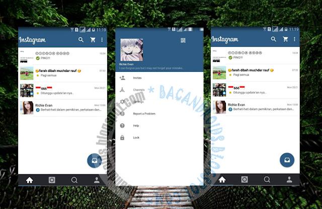 download BBM Mod Thema Instagram Apk
