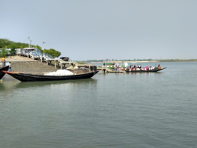 Gosaba, boats, jetty