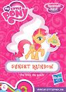 MLP Wave 15A Sunset Rainbow Blind Bag Card