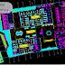 مخطط وصفي مركز تجاري متعدد الطوابق + موقف سيارات تحت الارض اوتوكاد dwg