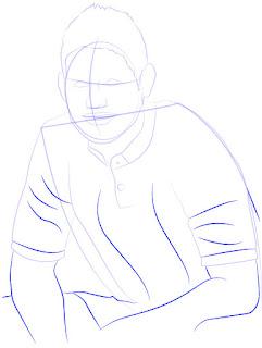 Langkah 7. Super Simpel Menggambar James Rodríguez