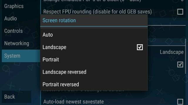 Cara setting Orientasi kontroller emulator PPSSPP