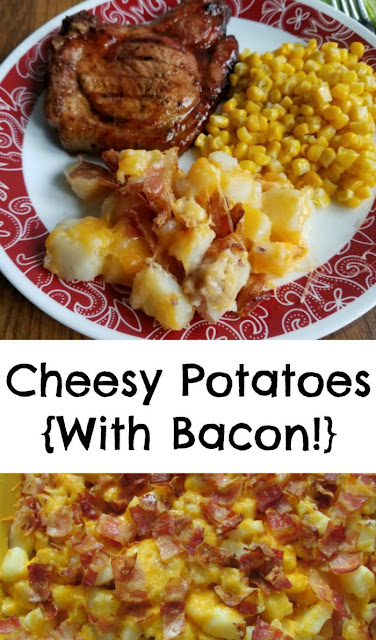 Loaded with cheese and bacon, these potatoes are going to disappear before you even know what happened! Great for BBQs, potlucks or family dinners!