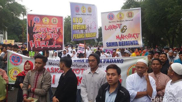 Wali Kota Pimpin Deklarasi Padang Anti-Maksiat, Anti-L68T
