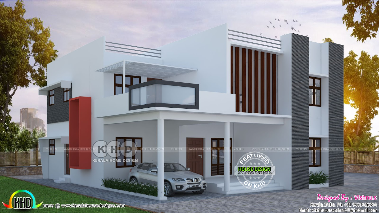 square feet details ground floor 1300 sq ft first floor 800 sq ft total area 2100 sq ft no of bedrooms 4 design style contemporary - First Floor Home Design Hd