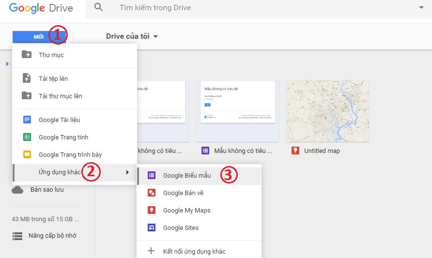 Tạo Form liên hệ từ google biểu mẫu