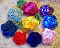 szydełkowe róże