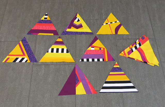Design Improv with Triangles - Blocks made by Lisa