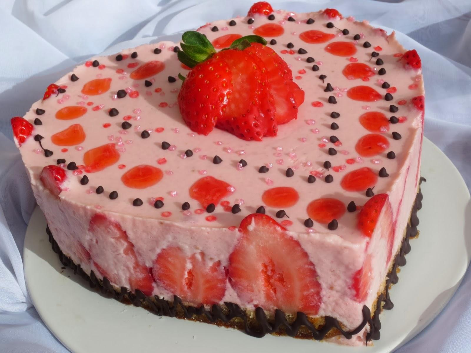 Tartas de yogur y fresas 2