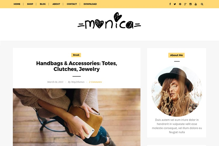 Way Monica Blogger Template