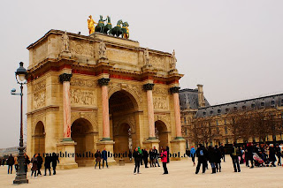 arc de triomphe du carrousel, Paris, France