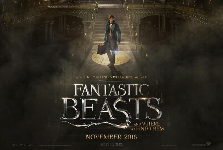 fantastic beasts and where to find them, trailer, official poster, animais fantasticos e onde habitam, micaela ramos, wanderlust, j. k. rowling, harry potter,