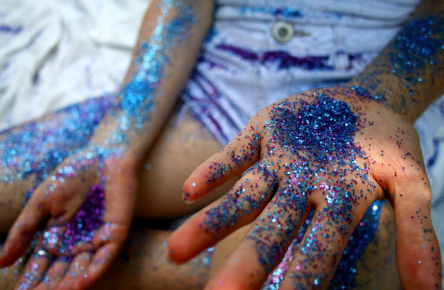 Glitter just is messy to use in the classroom