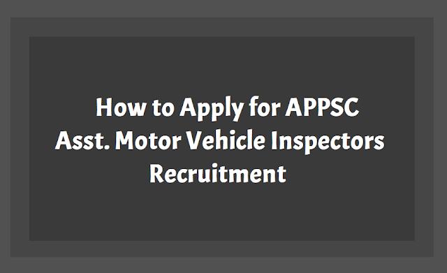 How to apply for APPSC AVMI Recruitment