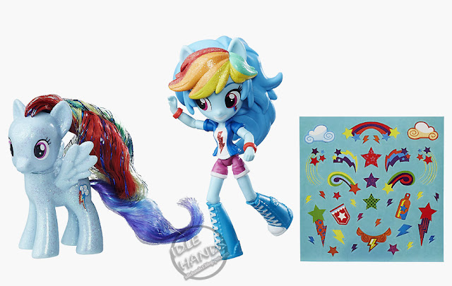San Diego Comic-Con 2016 Toys R Us Exclusive My Little Pony Elements of Friendship Rainbow Dash Pony and Doll Set from Hasbro
