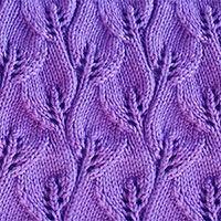 Overlapping Leaves stitch in the round. Easy, fun and nice pattern!