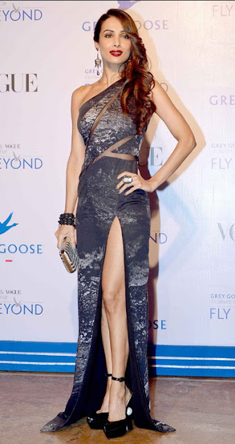 malaika arora khan in Thigh High Slit Dress