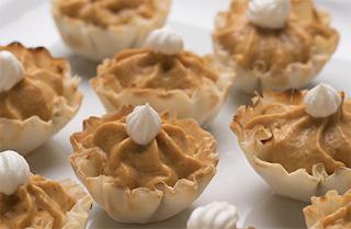 Jack-o-Lantern Pumpkin Pie Bites