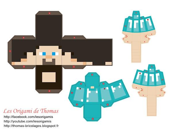 Steeve Minecraft en papier papercraft