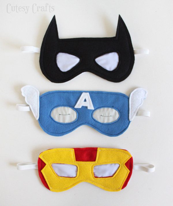 Máscaras para dormir heróis
