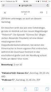 Spiegelkritik Polizeiruf 110 Dünnes Eis, 2 von 10 Punkte