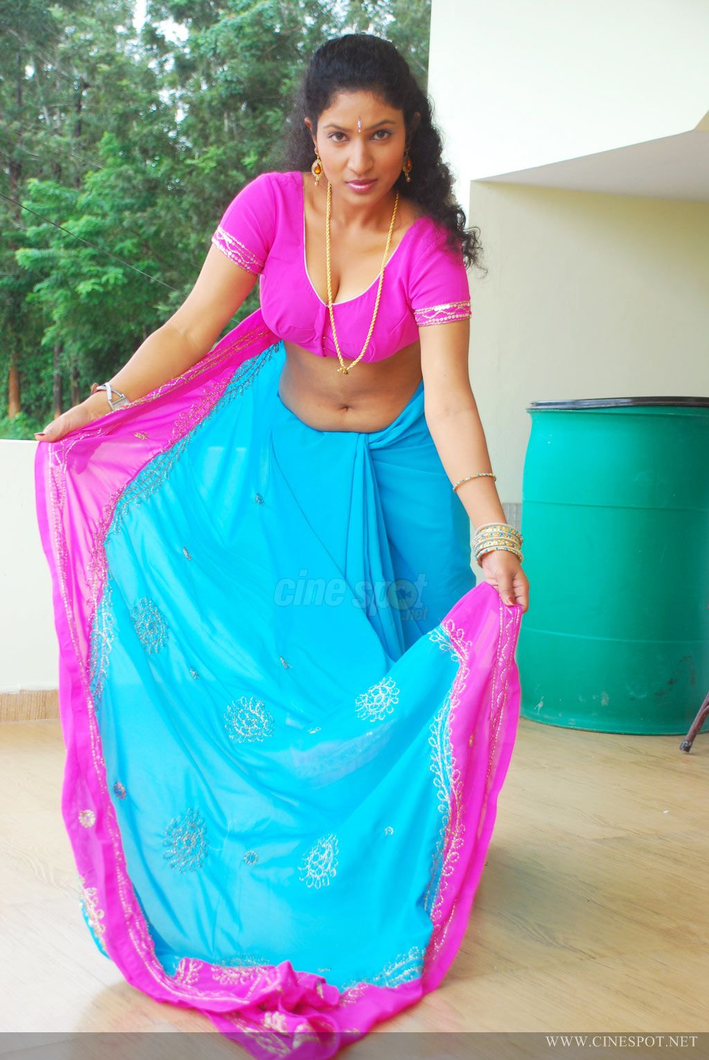 Latest Movies Gallery South Actress Hot Blouse Navel Wet Pics-1266